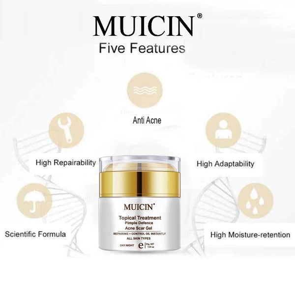 Muicin Topical Treatment Pimple Defence Acne Scar Gel - 50gms