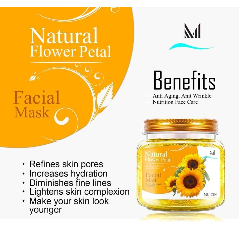Muicin Natural Flower Petal Facial Mask - 280gms