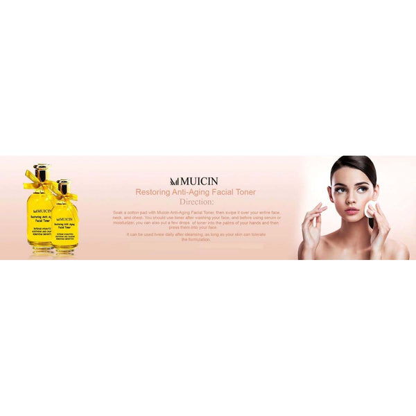 Muicin Restoring Anti-Aging Facial Toner Intense Hydration Soothing and Calming Removing Impurities