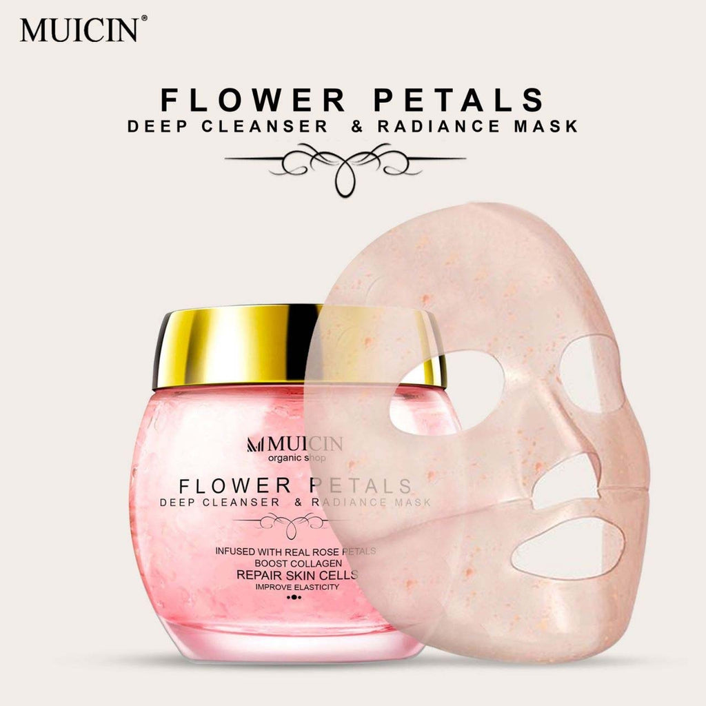 Muicin Flower Petals Deep Cleanser & Radiance Mask infused with real Rose Petals