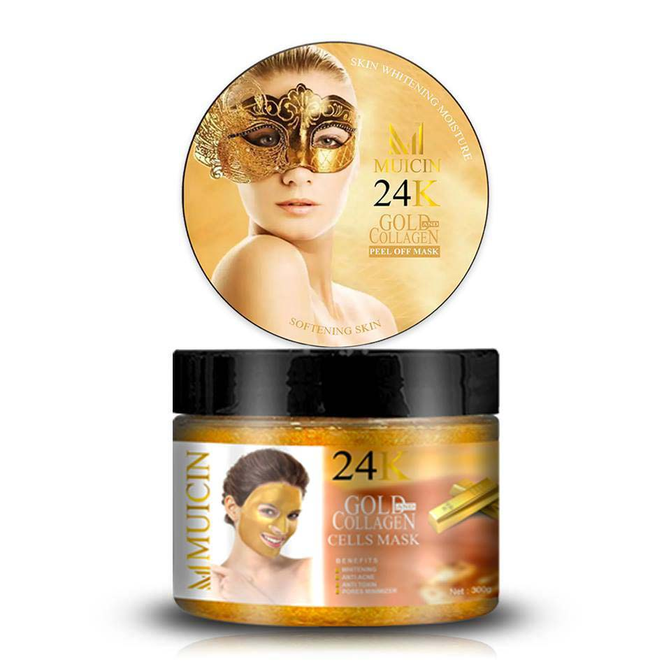 Muicin 24K Gold & Collagen Cells Mask for Fresh & Clear Skin - 300gms