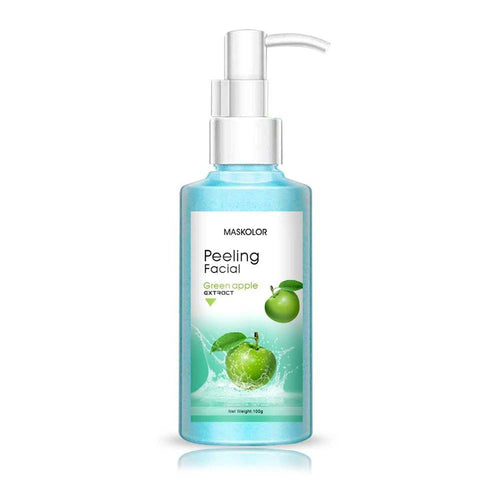 Maskolor Peeling Facial Green Apple Extract effectively Exfoliates Dead Skin Cells of Face & Neck - 100gms