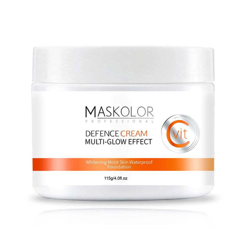 Maskolor Vitamin C Defence Cream Multi Glow Effect Whitening Moist Skin Waterproof Foundation - 115g