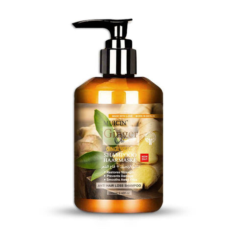Muicin Ginger Oil Shampoo + Hair Mask New 2 in 1 For Hair Fall - 280ml