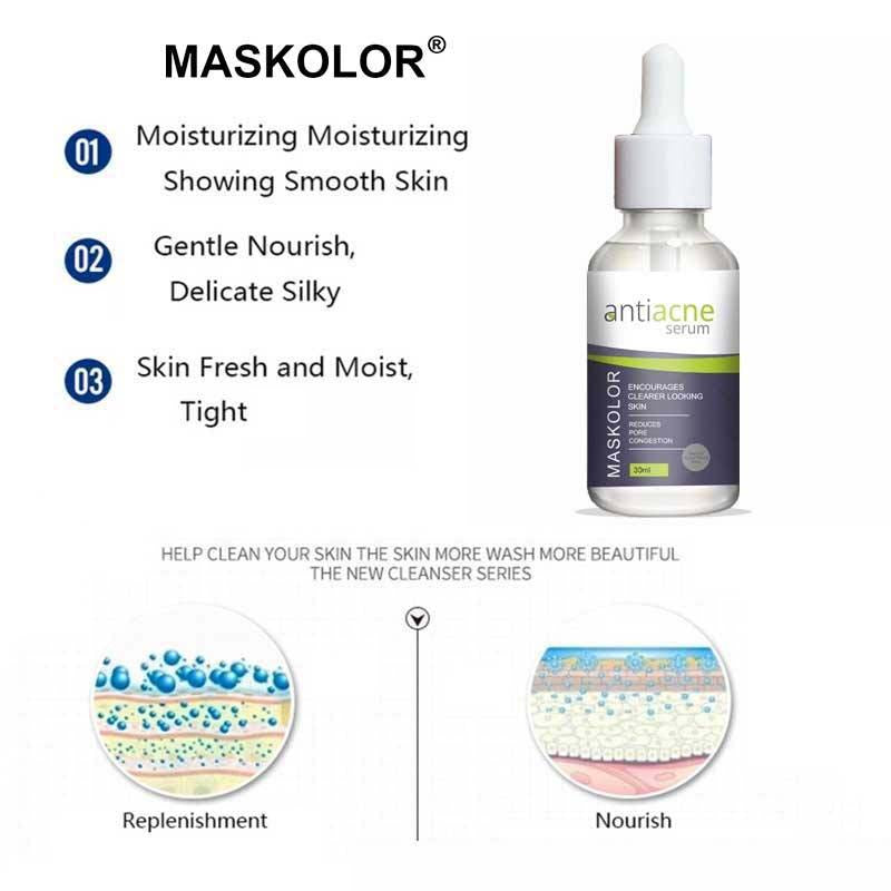 Maskolor Anti Acne Serum to reduce Pore Congestion & Clear Skin - 30ml