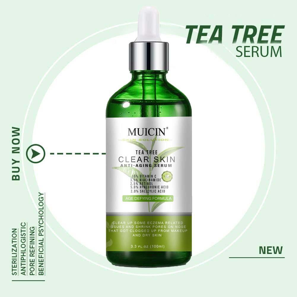 Muicin Tea Tree Clear Skin Anti Aging & Acne Treatment Serum - 100ml