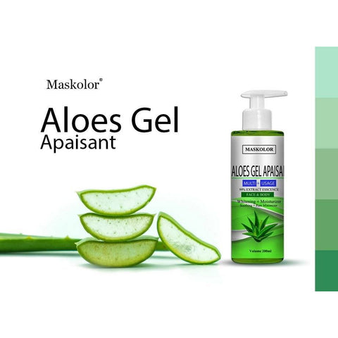 MASKOLOR ALOES GEL APAISANT 99% EXTRACT ESSENCE FACE & BODY