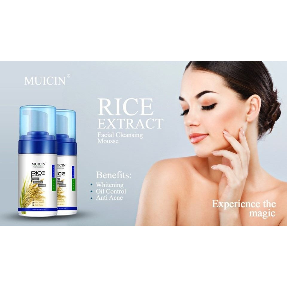 Muicin Rice Extract Facial Cleansing Mousse
