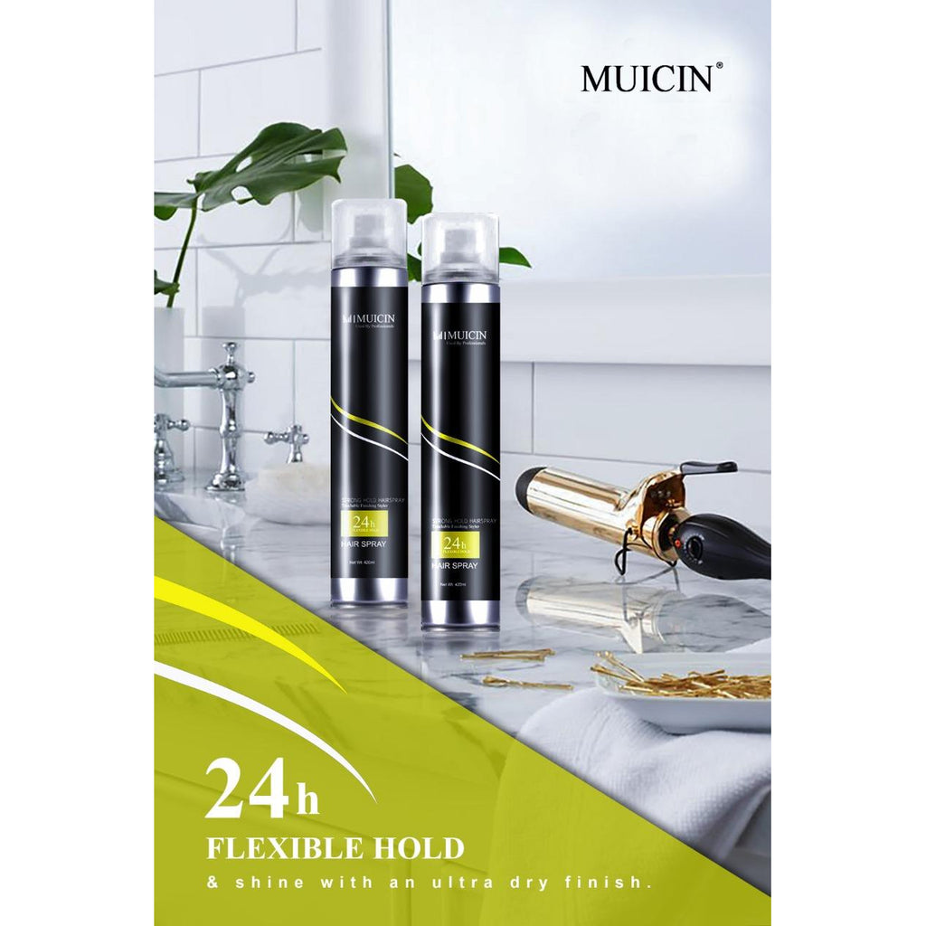MUICIN - Strong Hold Hair Spray Unisex - 420ml