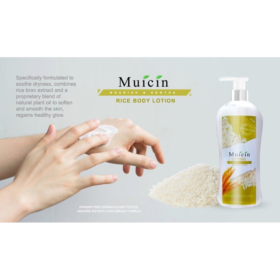Muicin Softening Nourishing & Soothe Rice Body Lotion