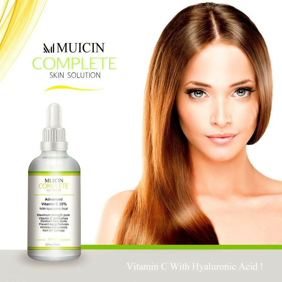 Muicin Complete Skin Solution Vitamin C with Hyaluronic Face & Body Serum - 100ml