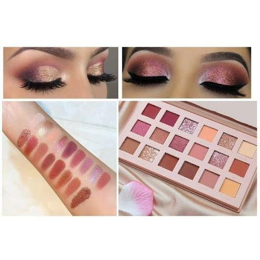 Huda Beauty New Nude Eye Shadow Palette 18 amazing colors