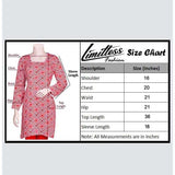 New & Latest Printed Lawn Stitched Kurti for Girls & Women's in Medium - LMC-28