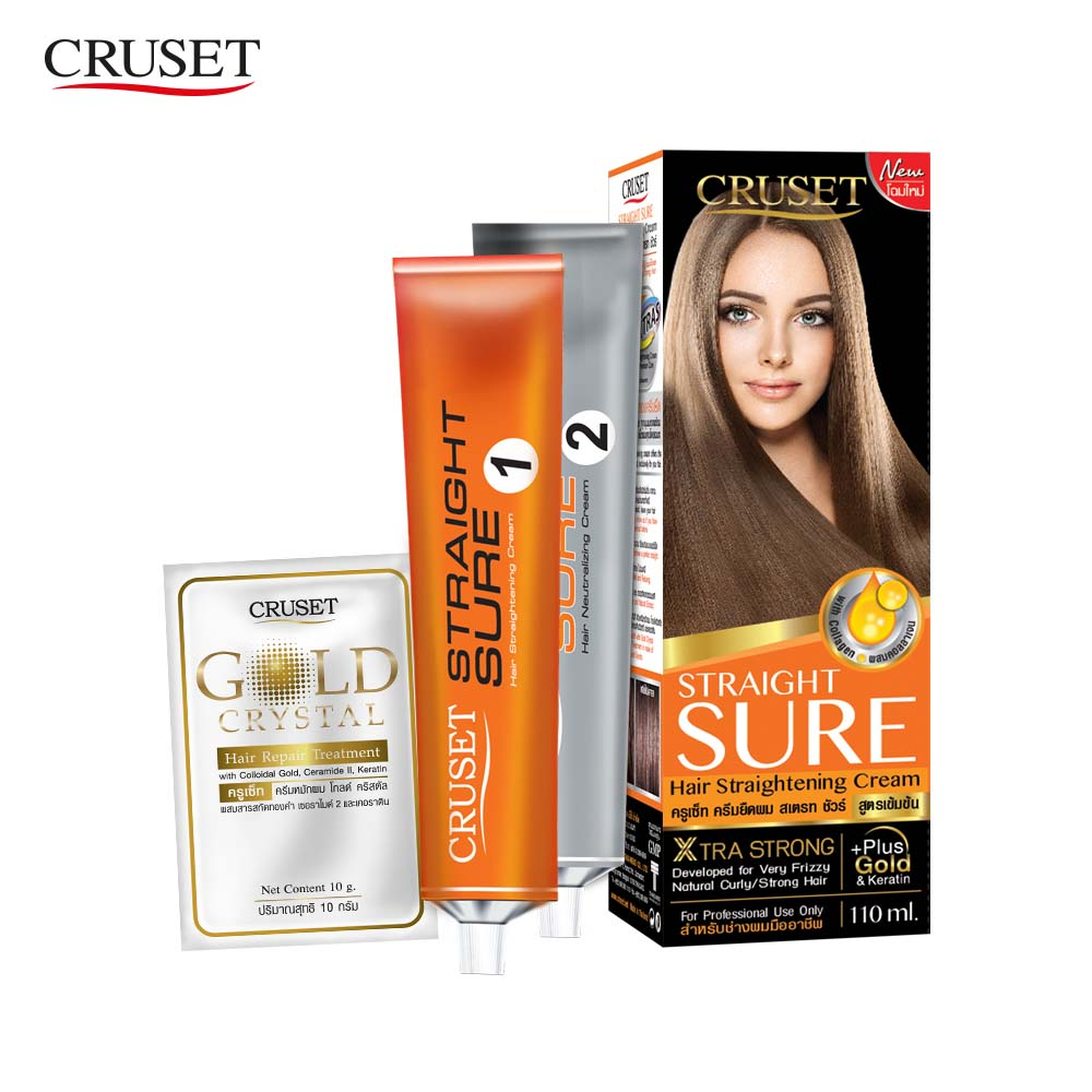 Cruset Straight Sure Hair Straightening Cream - 110ml
