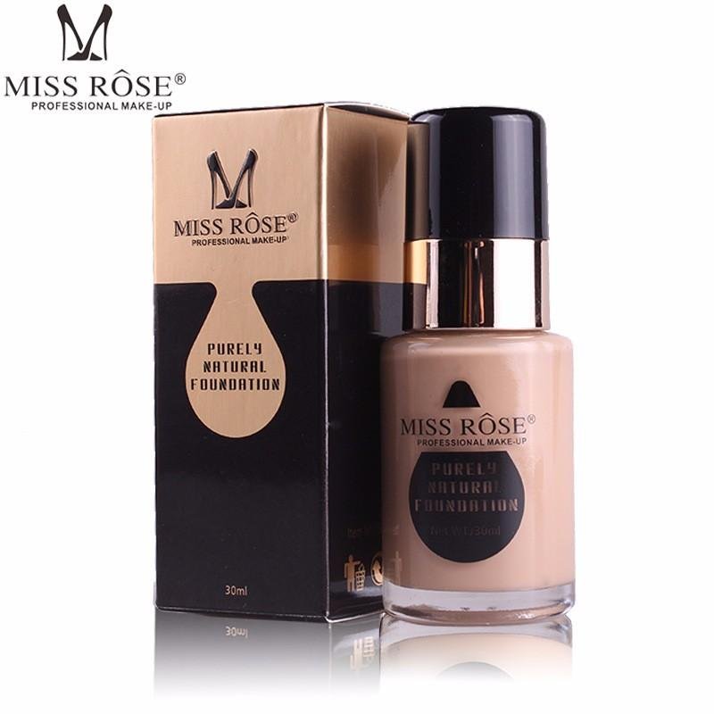 Miss Rose Purely Natural Foundation Makeup Cover in Light - 30ml