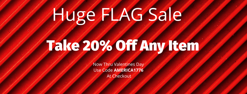 Don't Forget, 20% Off All Items  at FlagsForever.com  Plus Free Shipping!