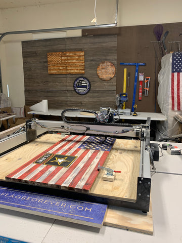 US Army Handmade Wood Flag