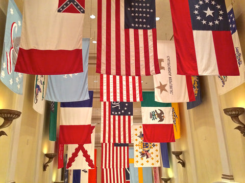 Corridor of Flags at Disney's American Adventure in Epcot, Orlando Florida 2020
