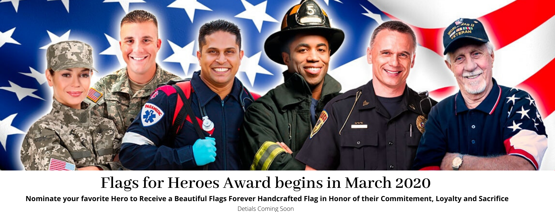 Flags For Heroes Award Banner