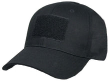 Load image into Gallery viewer, Tactical Black Ball Cap Style Hat with Moral Patch Velcro Area - Flags Forever