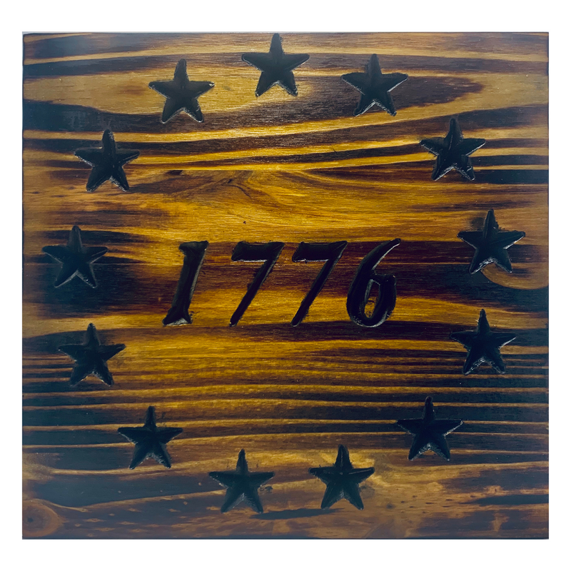 Handmade Betsy Ross 1776 Union in Natural Wood Finish