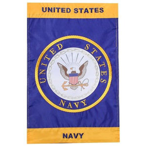 US Navy Crest Nylon Garden Flag - Flags Forever