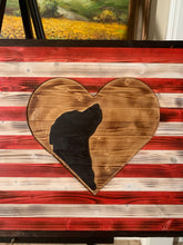 Load image into Gallery viewer, I Love My Golden Retriever Wooden Flag - Flags Forever