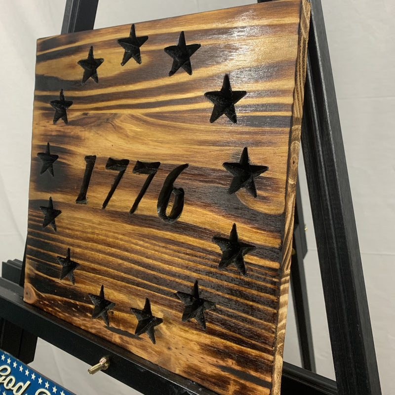 1776 Betsy Ross Union Stained Hand Torched Sign - Flags Forever