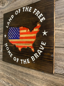 Land Of The Free Home Of The Brave - Flags Forever