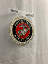 "Load image into Gallery viewer, United States Marine Corps 3.5"" Round Window Sticker - Flags Forever"