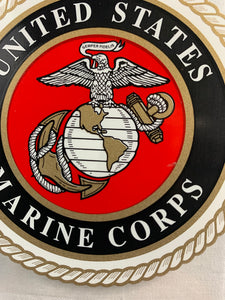 "United States Marine Corps 3.5"" Round Window Sticker - Flags Forever"
