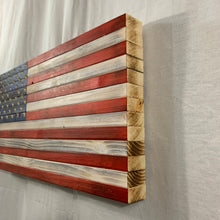 Load image into Gallery viewer, Handmade Wooden American Flag, Red White and Blue Indoor or Outdoor Patriotic Wall Art