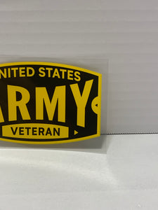 United States Army Veteran Sticker Yellow Window Decal/Sticker - Flags Forever