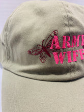Load image into Gallery viewer, Army Wife Embroidered Rose & Butterfly Cap - Flags Forever