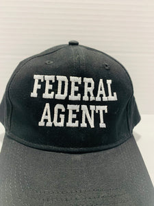 Federal Agent Insignia Hat Black with Embroidered White Lettering - Flags Forever