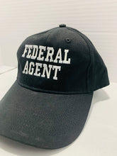 Load image into Gallery viewer, Federal Agent Insignia Hat Black with Embroidered White Lettering - Flags Forever
