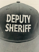 Load image into Gallery viewer, Deputy Sheriff Logo Black with Raised White Lettering Embroidered Cap - Flags Forever
