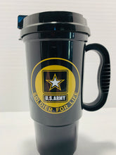 Load image into Gallery viewer, Official U.S. Army Soldier For Life High Strength Plastic Tumbler with Lid - Flags Forever