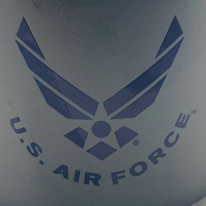 Official U.S. Air Force 16 Oz Grey and Blue Stoneware Mug with Air Force Crest - Flags Forever