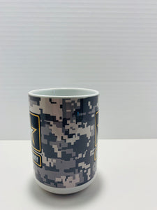 Official US Army Double Star Logo 16 Oz Camo Coffee Mug - Flags Forever