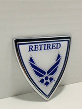Load image into Gallery viewer, Official US Air Force Retired Shield Heavy Duty Auto Emblem - Flags Forever
