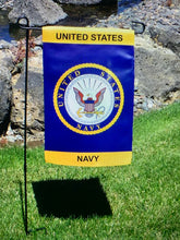Load image into Gallery viewer, US Navy Crest Nylon Garden Flag - Flags Forever