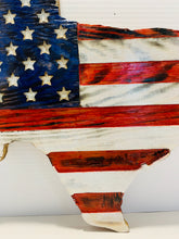 Load image into Gallery viewer, State of Texas Handmade Wooden Flag Red White and Blue Indoor/Outdoor Patriotic Wall Art