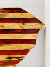 Load image into Gallery viewer, Handmade State of South Carolina Rustic Wooden American Flag  Indoor/Outdoor Patriotic Wall Art