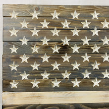Load image into Gallery viewer, Greyscale Handmade Wooden American Flag Indoor Outdoor Americana Patriotic Decor