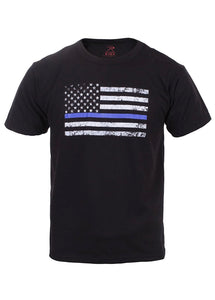Children's Thin Blue Line US Flag T-Shirt
