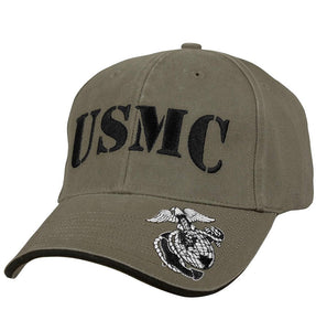 Deluxe Vintage USMC Embroidered Low Profile Cap
