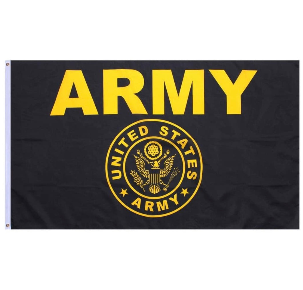 Black & Gold United States Army Flag 3x5 Feet Made Of High Strength Polyester