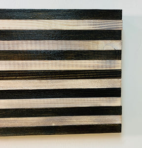 Black and White Handcrafted Premium Wooden American Flag Indoor Outdoor Wall Hanging