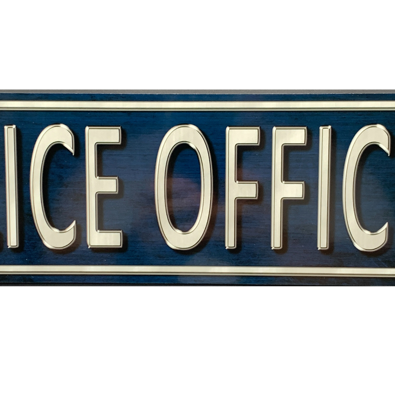 "Police Officer Way 4""x18"" Indoor/Outdoor Sturdy Metal Street Sign"